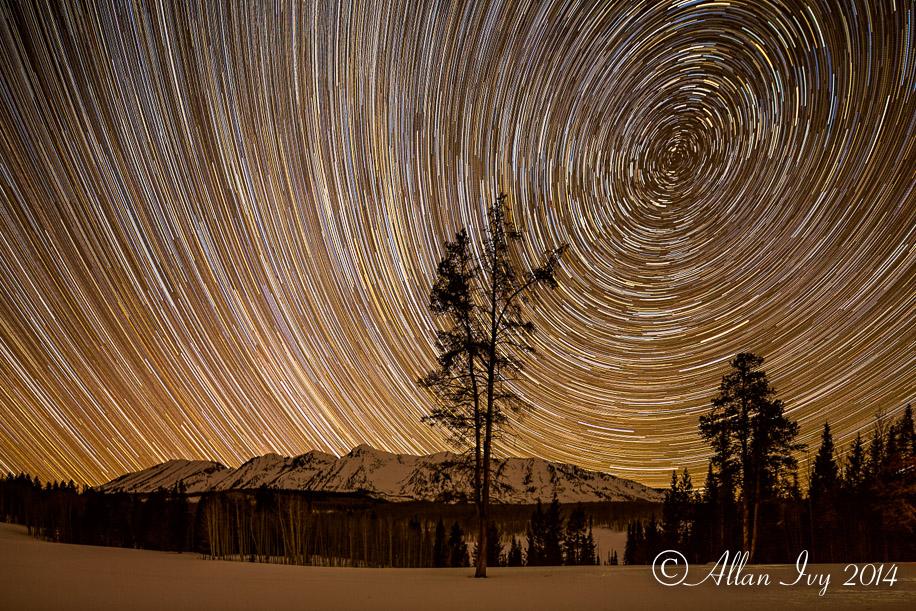 """Stars moving through the heavens above the Anthracite Range"" Gu"